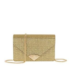 NWOT Michael Kors Sparkle Gold Barbara Clutch